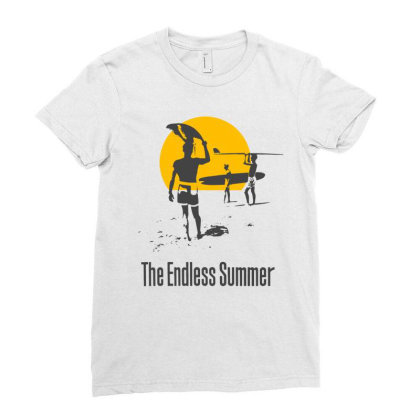 Endless Summer, 1966 Surf Sport T Shirt Ladies Fitted T-shirt Designed By Babydoll