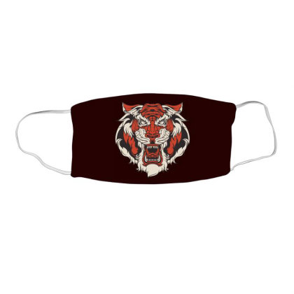 Angrey Tiger Face Mask Rectangle Designed By Chiks