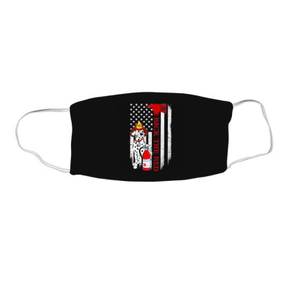 Dalmatian Firefighter Back The Red Flag Face Mask Rectangle Designed By Kakashop