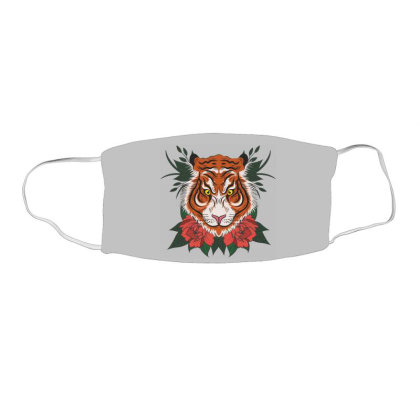 Tiger Face Mask Rectangle Designed By Estore