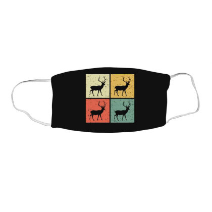 Retro Deer Face Mask Rectangle Designed By Mrt90