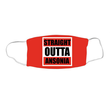 Straight Outta Ansonia Face Mask Rectangle Designed By Cuser2397