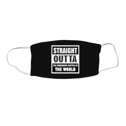 Straight Outta The Submarine Capital Of The World Face Mask Rectangle Designed By Cuser2397