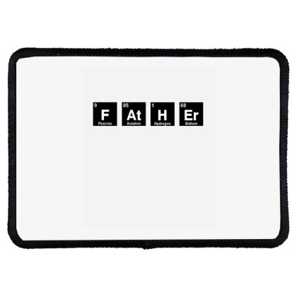 Father Periodic Table Rectangle Patch Designed By Wd650
