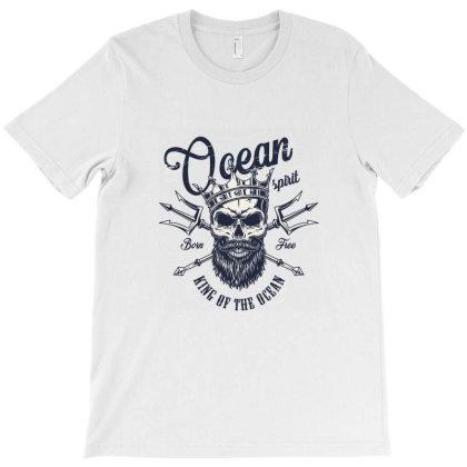 Ocean Spirit, King Of The Ocean, Skull T-shirt Designed By Estore