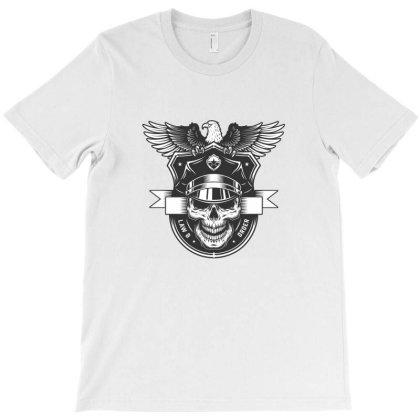 Law Order, Skull Police T-shirt Designed By Estore