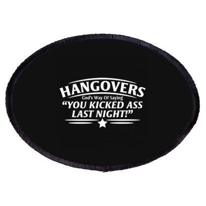 Hangovers Oval Patch Designed By Nur4