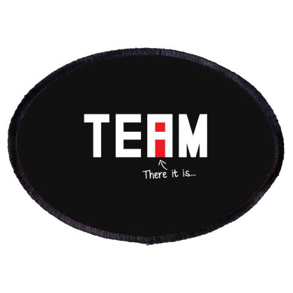 I Found The I In Team Oval Patch Designed By Nur4