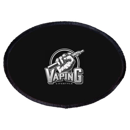 Vaping Life Style Oval Patch Designed By Estore