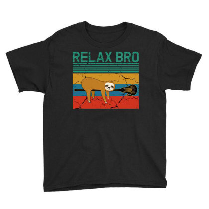 Lacrosse Relax Bro Youth Tee Designed By Badaudesign