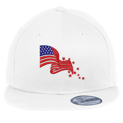 America Flag Embroidered Hat Flat Bill Snapback Cap Designed By Madhatter