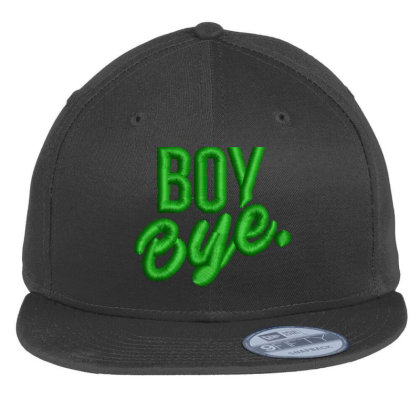 Boy Bye Embroidered Hat Flat Bill Snapback Cap Designed By Madhatter