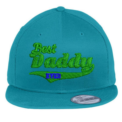 Best Daddy Ever Embroidered Hat Flat Bill Snapback Cap Designed By Madhatter