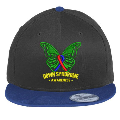 Down Syndrome Embroidered Hat Flat Bill Snapback Cap Designed By Madhatter