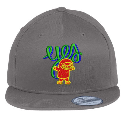 Yes Or Eyes Embroidered Hat Flat Bill Snapback Cap Designed By Madhatter