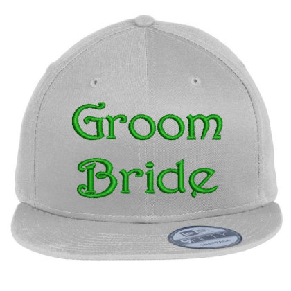 Groom Bride Embroidered Hat Flat Bill Snapback Cap Designed By Madhatter