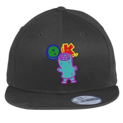 Okay World Embroidered Hat Flat Bill Snapback Cap Designed By Madhatter