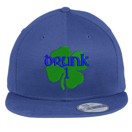 Drunk Irish Embroidered Hat Flat Bill Snapback Cap Designed By Madhatter