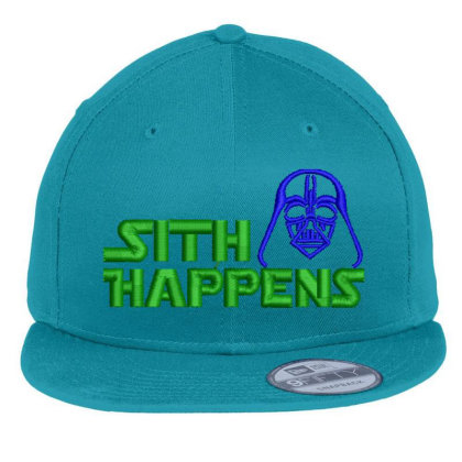 Sith Happens Embroidered Hat Flat Bill Snapback Cap Designed By Madhatter