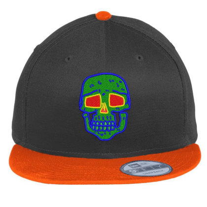 Skull Embroidered Hat Flat Bill Snapback Cap Designed By Madhatter