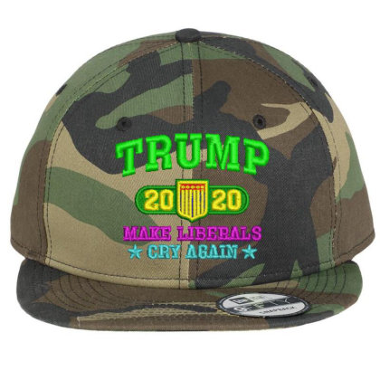 Trump 2020 Embroidered Hat Flat Bill Snapback Cap Designed By Madhatter