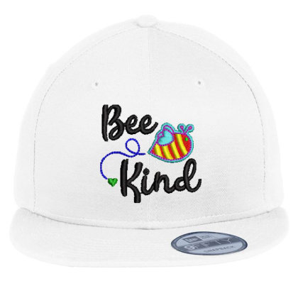 Bee King Embroidered Hat Flat Bill Snapback Cap Designed By Madhatter