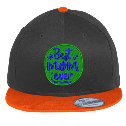 Best Mom Ever Embroidered Hat Flat Bill Snapback Cap Designed By Madhatter