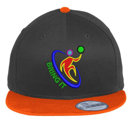 Bring It Embroidered Hat Flat Bill Snapback Cap Designed By Madhatter
