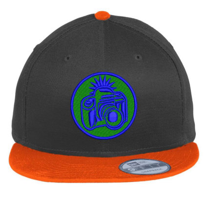 Camera Embroidered Hat Flat Bill Snapback Cap Designed By Madhatter