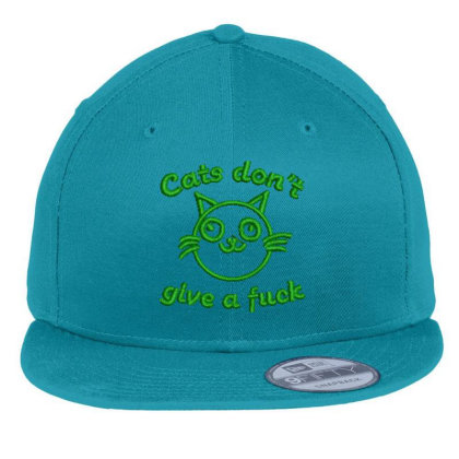 Cats Don't Give A Fuck Embroidered Hat Flat Bill Snapback Cap Designed By Madhatter
