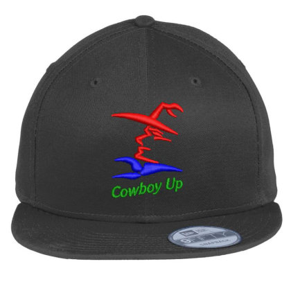 Cowboy Embroidered Hat Flat Bill Snapback Cap Designed By Madhatter