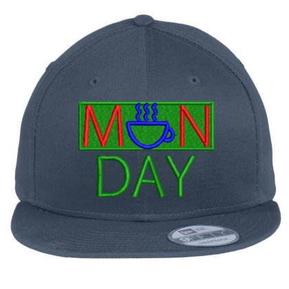 Manday Embroidered Hat Flat Bill Snapback Cap Designed By Madhatter
