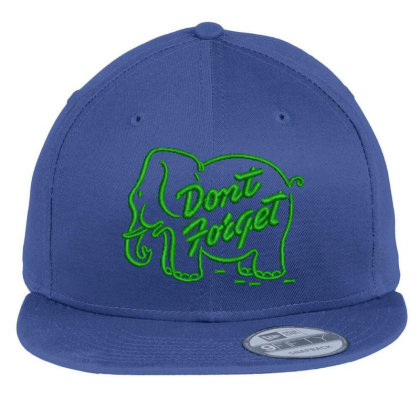 Don't Forget Embroidered Hat Flat Bill Snapback Cap Designed By Madhatter