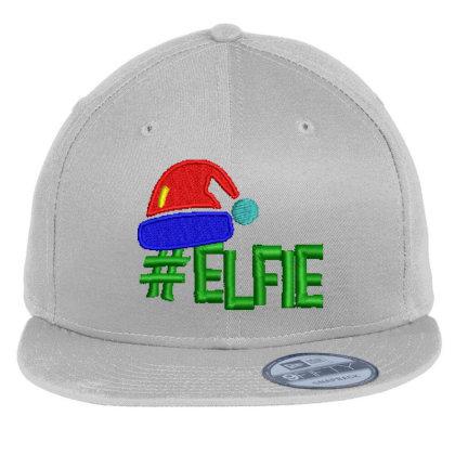 #elfie Embroidered Hat Flat Bill Snapback Cap Designed By Madhatter