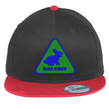 Run Away Embroidered Hat Flat Bill Snapback Cap Designed By Madhatter