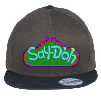 Say-doh Embroidered Hat Flat Bill Snapback Cap Designed By Madhatter