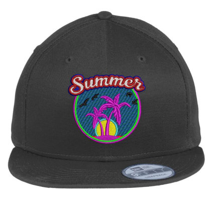 Summer Embroidered Hat Flat Bill Snapback Cap Designed By Madhatter
