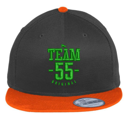 Team 55 Embroidered Hat Flat Bill Snapback Cap Designed By Madhatter