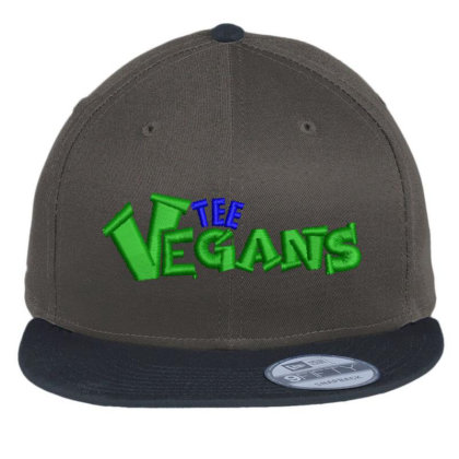 The Vegans Embroidered Hat Flat Bill Snapback Cap Designed By Madhatter