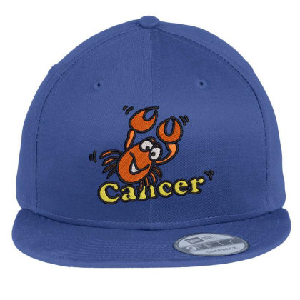 Cancer Zodiac Cat Flat Bill Snapback Cap Designed By Madhatter