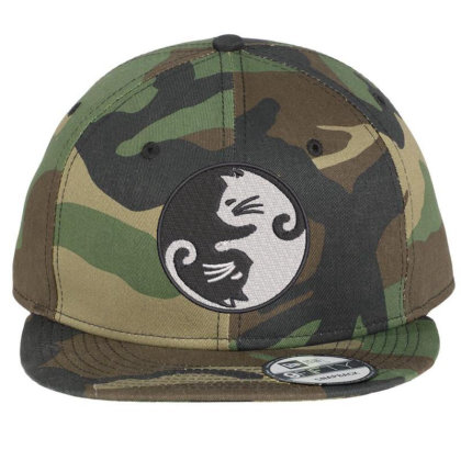 Cat Embroidered Hat Flat Bill Snapback Cap Designed By Madhatter