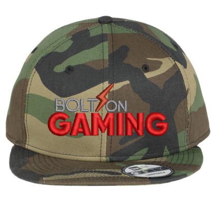 Bolt On Gaming Embroidered Hat Flat Bill Snapback Cap Designed By Madhatter