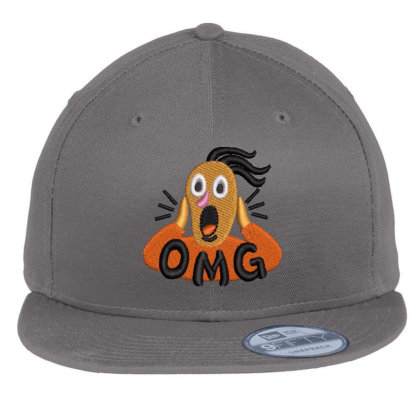 Omg Embroidered Hat Flat Bill Snapback Cap Designed By Madhatter