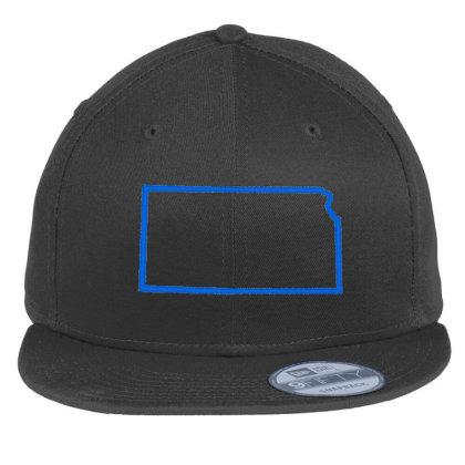 Kansas Flat Bill Snapback Cap Designed By Madhatter