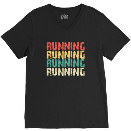 Running V-neck Tee Designed By Lawrensia