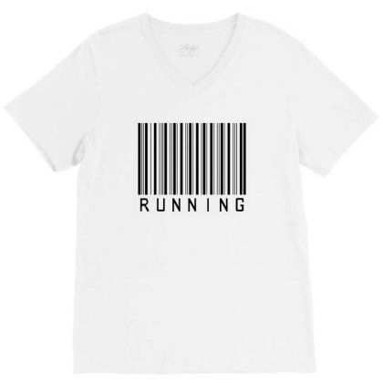 Running   Sport   Jogging   Marathon   Runner V-neck Tee Designed By Lawrensia