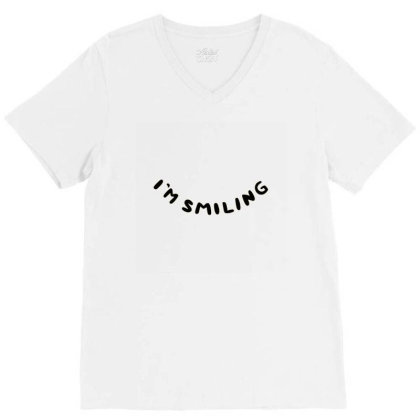 I'm Smiling V-neck Tee Designed By Marci