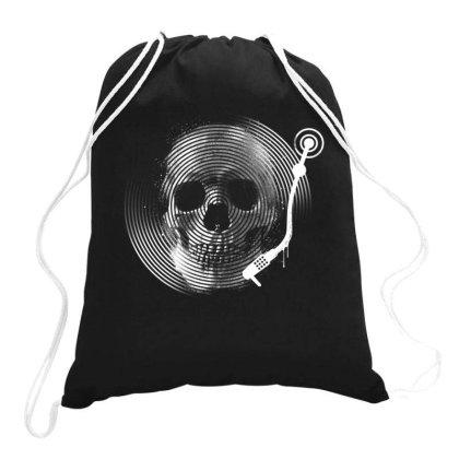 Death Tune Drawstring Bags Designed By Glitchygorilla