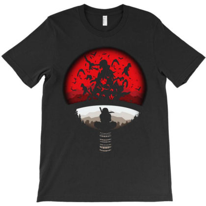 In The Red Moon Naruto Alone T-shirt Designed By Ron Pictures