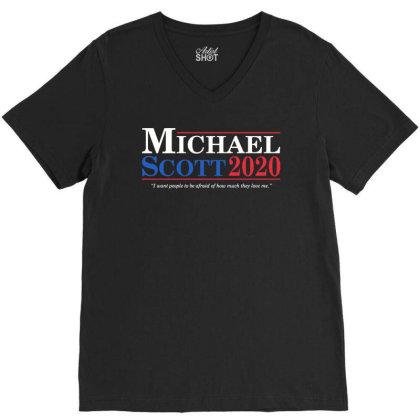 Michael Scott 2020 V-neck Tee Designed By Angel Tees